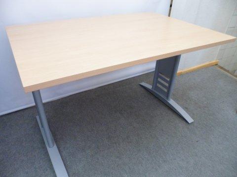 höhenverstellbarer Schreibtisch in Buche Dekor