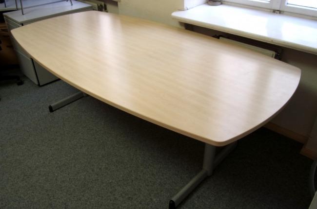 bootsförmiger Konferenztisch, Ahorn Dekor