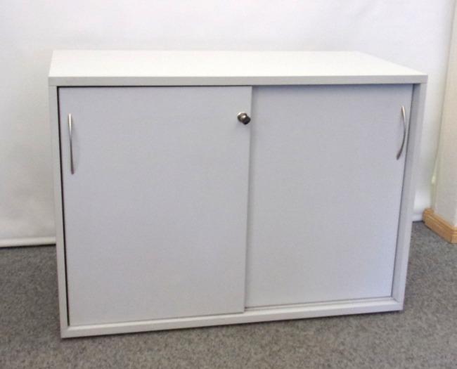 abschließbares Sideboard für 2 Ordnerhöhen, grau