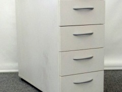Standcontainer, weiß, abschließbar