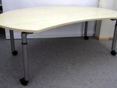 höhenverstellbarer Schreibtisch, Cokpitform