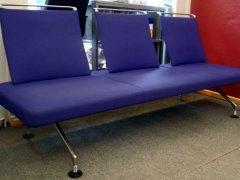 "blaues 3-Sitzer Stoffsofa ""AREA"" by Citterio von VITRA"