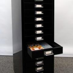 schwarzer Schubladencontainer, 15 Schübe
