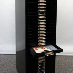 schwarzer Schubladencontainer, 30 Schübe