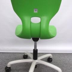 Drehstuhl von ASS mit grüner Kunststoffschale, Mod.Flex 7875